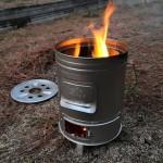 焚き火缶を手に入れた2月の夕方。tanaka bun kinzoku 缶ストーブ
