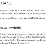 Contact Form 7のスパム対策のreCAPTCHA v3をWordPressに導入する~たぶんこれが正解で簡単
